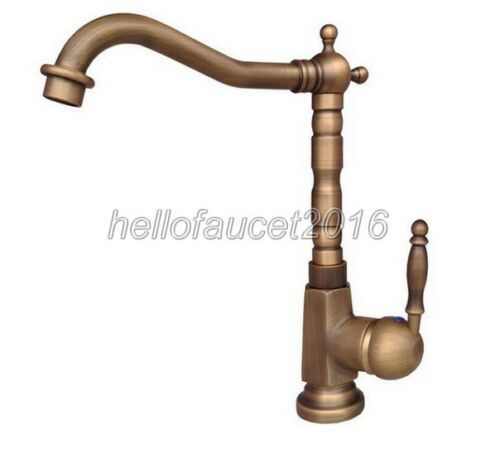 Antique Brass Bathroom Sink Faucets One Hole//Handle Lavatory Mixer Taps lan036
