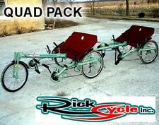 NEW RICKSYCLE QUAD PACK RECUMBENT ALUMINUM CYCLING TANDEM BICYCLE FUN TRICYCLE