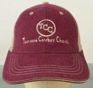5f39d6ca41f TCC Texoma Cowboy Church Trucker Mesh Hat Cap Adjustable   eBay