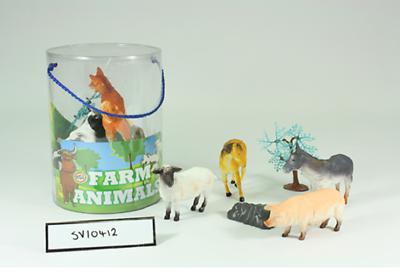 Animals & Dinosaurs Sv10412 Cheval Vache Mouton Jouet Éducatif Delicacies Loved By All Animaux De La Ferme Grand Tube