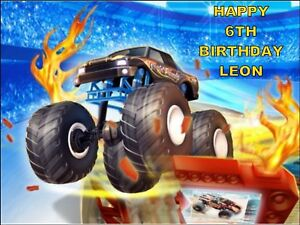 A4 Hot Wheels Edible Icing Sheet Birthday Cake Topper 7426763480133