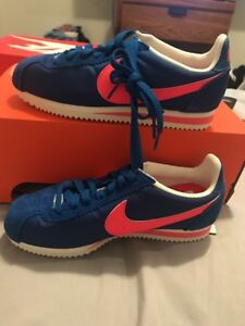 best service 42594 e3bf8 Image is loading NIKE-WMNS-CLASSIC-CORTEZ-NYLON-BLUE-JAY-Pink-