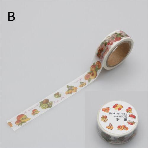 cute mini food fruit stamps Tape DIY Scrapbooking Sticker Masking TapeGNCA