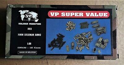 Bellissimo Verlinden 1111 - 75mm Sherman Ammo - 1/35 Resin Kit Nuovo Gamma Completa Di Articoli