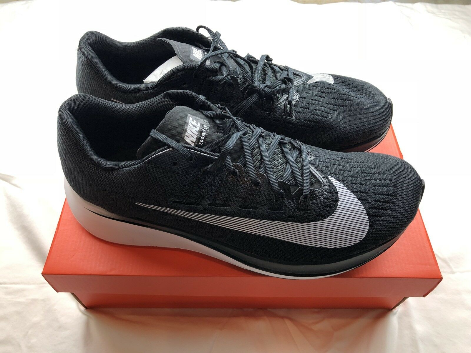 NiNike Zoom Fly Mens Running Shoes Black White Anthracite