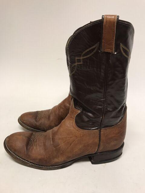 6f4b6557330 Tony Lama Mens Brown 2023 Stockman Aztec Shrunken Shoulder Western Boots 9 D