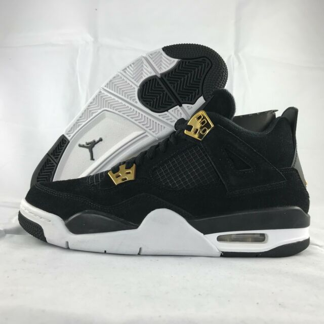 sports shoes 8f3fa 0f67a Nike Air Jordan Retro 4 Royalty Black/metallic Gold Youth Sz 6.5y 408452 032