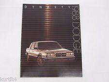 1988 Dodge Dynasty LE Sedan Original Sales Brochure Catalog