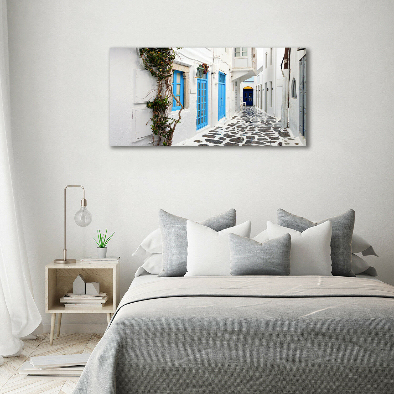 Arte de pa  rojo  pa de vidrio pantalla imprimir en cristal 140 x 70 calles griegas de interés 729556