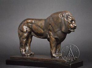 Image is loading Rembrandt-Bugatti-bronze-sculpture-of-Nubian-Lion df888d92744