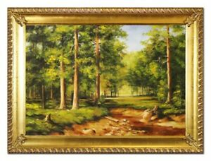 Oil-Painting-Pictures-Hand-Painted-with-Frame-Baroque-Art-G96531