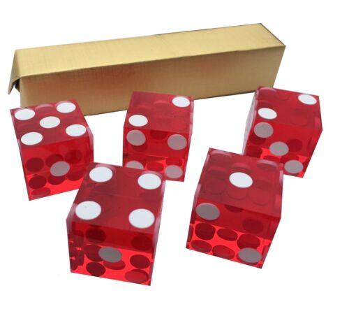 Craps Stacking Casino Dice Präzisionswürfel Casino Würfel Set 5 Stück