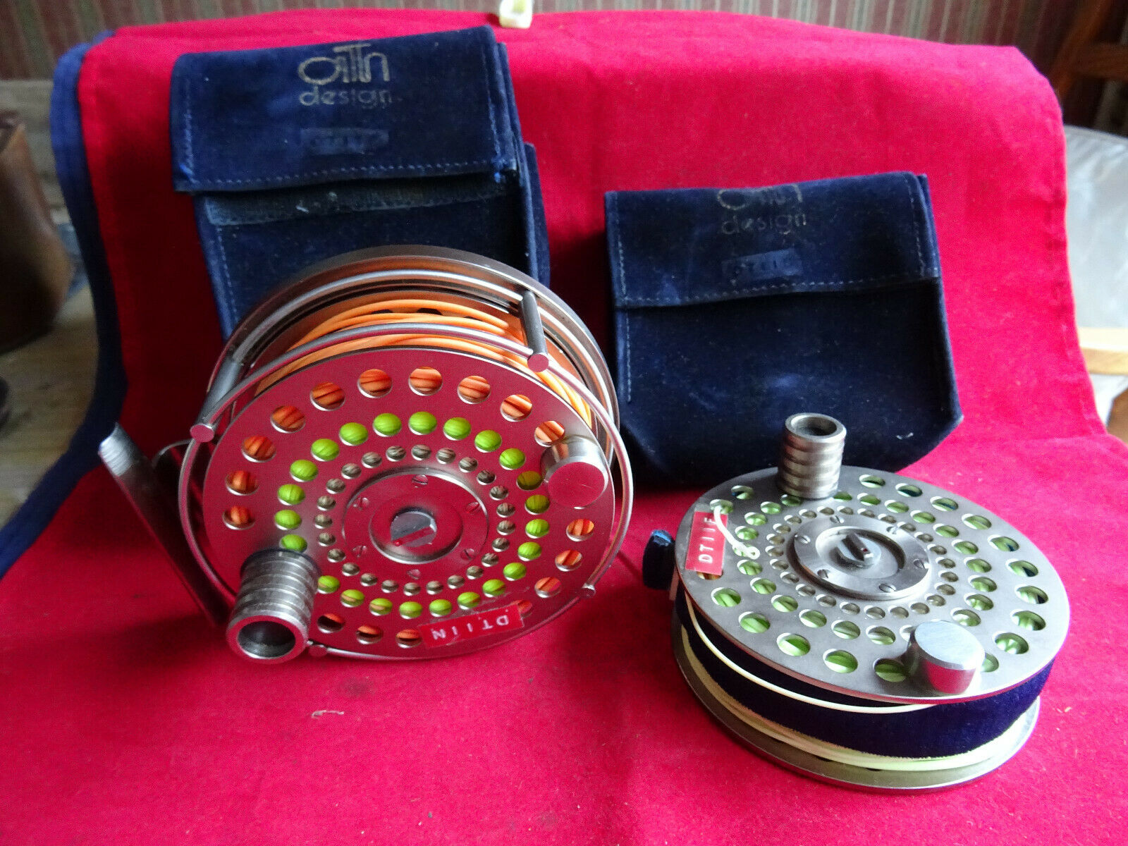 A VERY GOOD ARI T HART S3 208 SALMON FLY REEL AND SPARE SPOOL WITH CASES & LINES