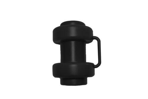 6x Schwarze Kappen Endkappen für Trampolin Innenliegendes Sicherheitsnetz  Ø25mm