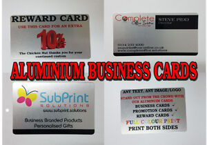 Aluminium metal business cardspromotionalrewardloyaltyid card image is loading aluminium metal business cards promotional reward loyalty id colourmoves