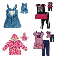 Dollie Me Girl Dress Tunic Romper Coat Set 6 7 8 10 Fits American Girl 18 Dolls
