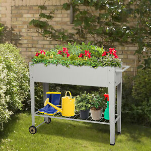 Garden-Raised-Bed-Elevated-Planting-Flower-Box-Vegetable-Planter-Herb-W-Handle