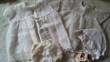 Vintage Baby Christening Dress Outfit Ivory Madonna Original Bonnet Shoes Socks