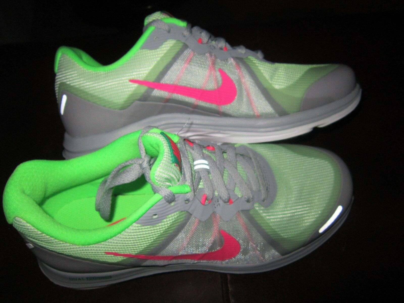 Nike Women's Size 7 Dual Fusion X 2 GrayVolt Pink Athletic Shoe; New w/o Box