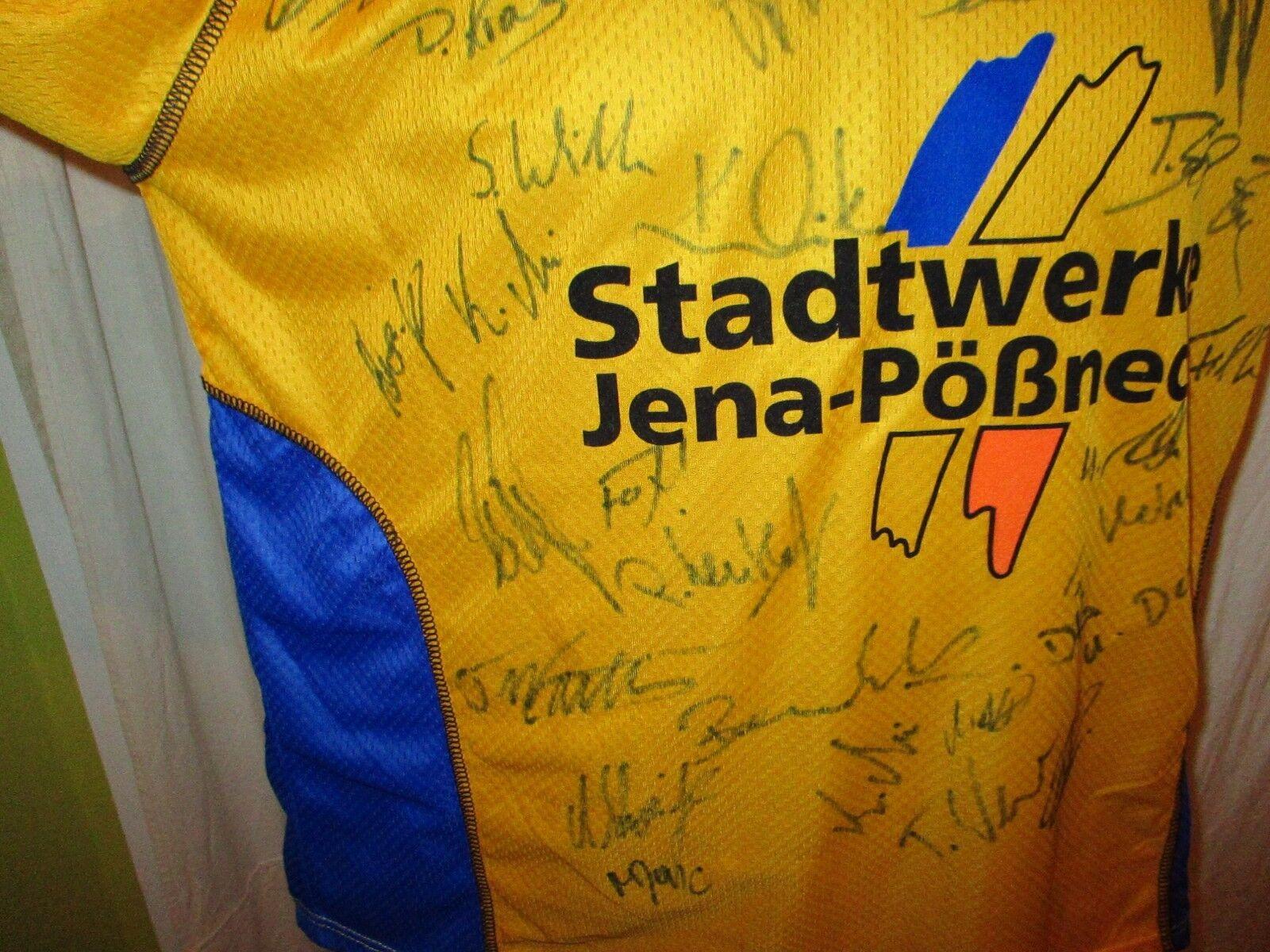 FC Carl Carl FC Zeiss Jena Pro Touch Matchworn Trikot 03/04 + Nr.2 Maul + Signiert Gr.L 3d9601