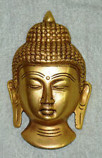 Golden Buddha Face Door Hanger Tibetan Budhist Lord Budha Brass Face Figure BM56