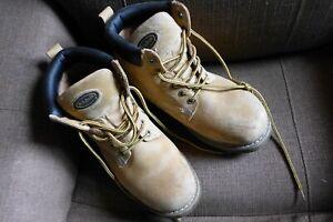 Steel Toe Gel Work Boots Tan