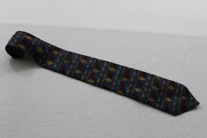 KR7201-Real-Krawatte-bunt-mit-Motiv-Sehr-gut