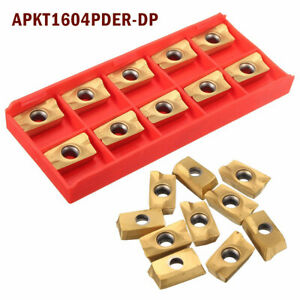 10tlg-APKT1604PDER-DP-Wendeschneidplatten-Wendeplatten-fuer-Drehen-Klemmhalter