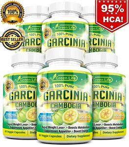 Details about 6 X BOTTLES 360 Capsules 3000mg Daily GARCINIA CAMBOGIA HCA  95% Weight Loss Diet