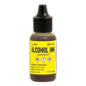 Ranger Adirondack Alcohol Ink Bottle Dandelion 0.5 Fl. Oz Tal59424 Jaune-afficher Le Titre D'origine
