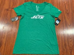 46571dd803 Details about Nike Womens New York Jets Historic Logo Tri Blend V-Neck  Shirt Medium M Football