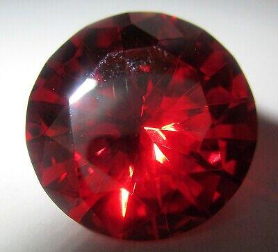 red 12 mm Ø Brillantschliff Zirkonia synthetischer Edelstein rund 1 CZ Rot