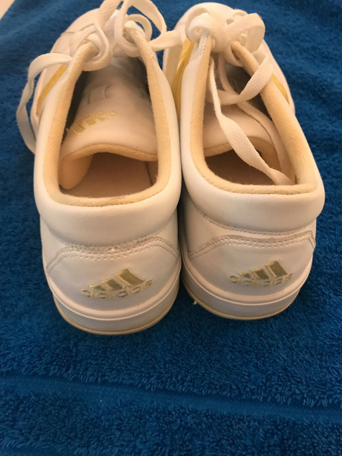 Adidas Women's Equilibrium Equilibrium Equilibrium Leather w Yellow Stripe shoes, Size 11 59b07d