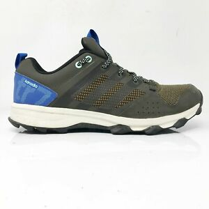 Adidas Mens Kanadia TR 7 B33628 Grey Blue Running Shoe Lace Up Low Top Size 10.5