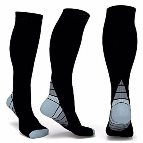 Flight Sock Leg Anti-Fatigue Compression Sleeve Varicose Vein Stocking 20-30mmHg