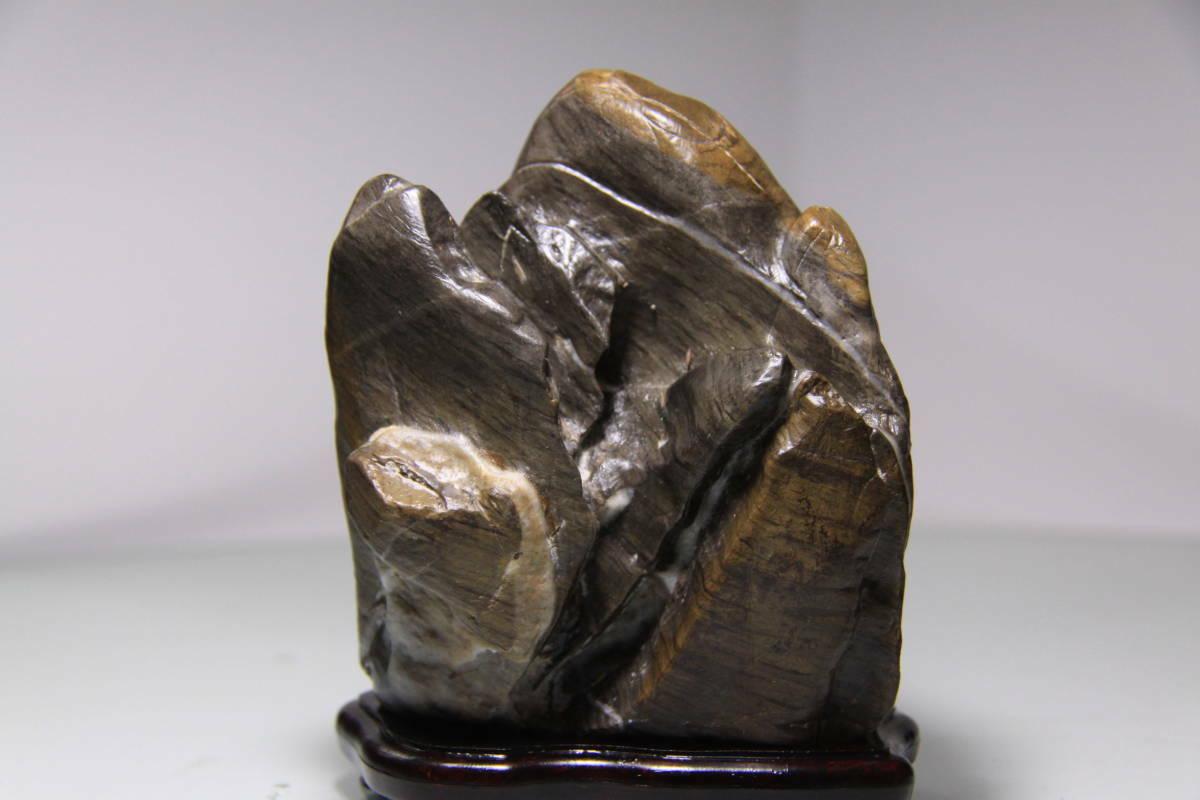 Piedra De Montaña JAPANESE 11cm 4.33  Bonsai Antiguo Arte Japón bonseki piedra Suiseki para 509c