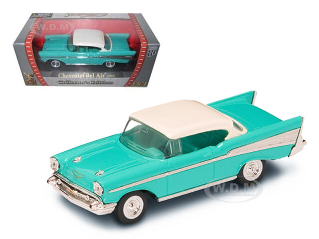 1957 CHEVROLET BEL AIR TURQUOISE 1/43 MODEL CAR BY ROAD SIGNATURE  94201