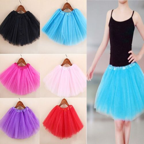 Children Kid Girls Tutu Skirt Princess Dressup Party Costume Ballet Dancewear
