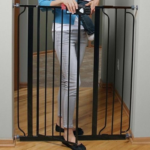 Stairs Baby Gate Tall Stairway Protect Securaty Baby Gates Easy