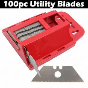 100-x-Trapezklingen-0-6-mm-fuer-Teppich-Bodenleger-Universalmesser-Cutterklingen