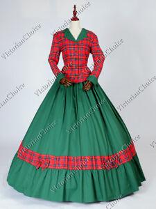Victorian-Civil-War-Dickens-Plaid-Christmas-Caroler-Dress-Theatrical-Gown-122
