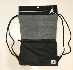 dbbeae5aeeeb8c NIKE JORDAN PIVOT GYM SACK DRAWSTRING BAG BACKPACK 9A0084 023 BLACK ...