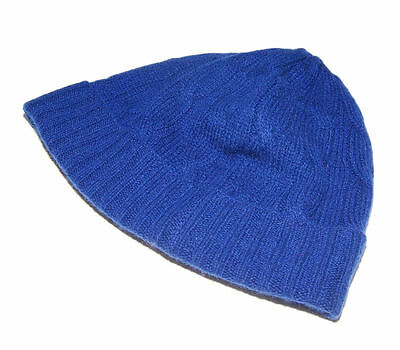 Polo Ralph Lauren Cashmere Cable Skull Beanie Winter Cap Hat Blue Medium  Large be1393094e06