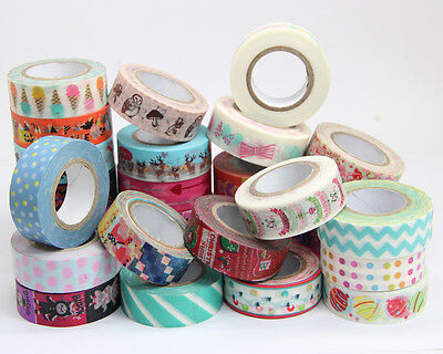 New Design 1.5cm×10M DIY paper Sticky Adhesive Sticker Decorative Washi Tape