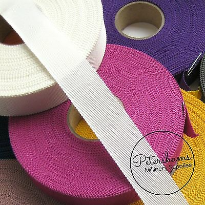 """25mm No.5 Petersham 1"""" Wide Hat Ribbon for Millinery & Hat Making 1 yard"""