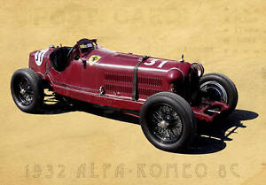 Image Is Loading 1932 Alfa Romeo 8C Formula 1 Grand Prix
