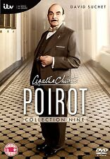 POIROT di Agatha Christie Collection 9 BOX 3DVD Inglese NEW .cp