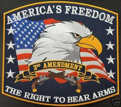 RIGHT TO BEAR ARMS 2ND AMENDMENT FREEDOM  5 INCH PATCH