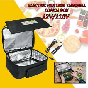 12VPortable Food Heater Warmer Electric Heating Lunch Box Lunch Oven Bag Instant