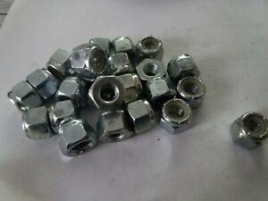 Qty 25  5//16-18  Nylon Insert Zinc Plated Lock Nuts Standard Hex Height nylok
